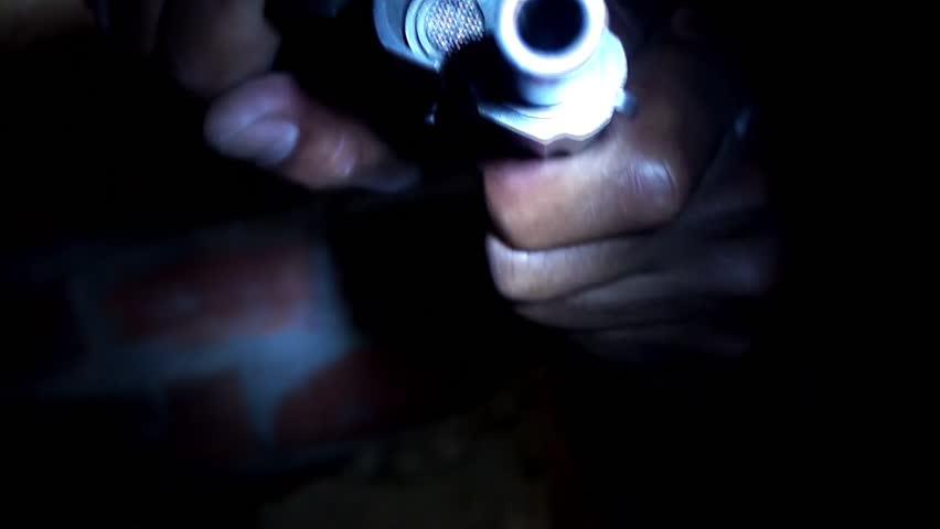 Weapon handling.