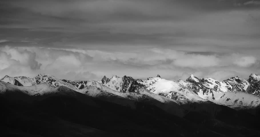 4k Time Lapse Of Clouds Mass Rolling Over Tibet Snow