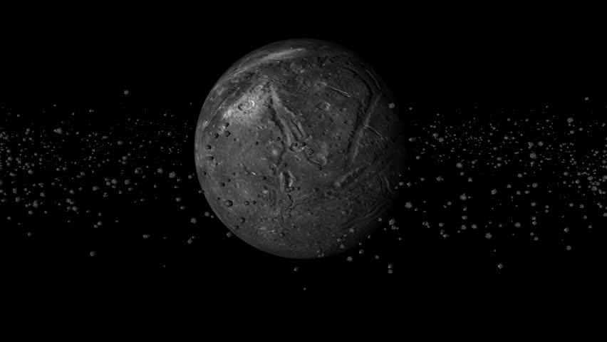 In This 3D Rendered Animated Clip A Green Planet Is ...