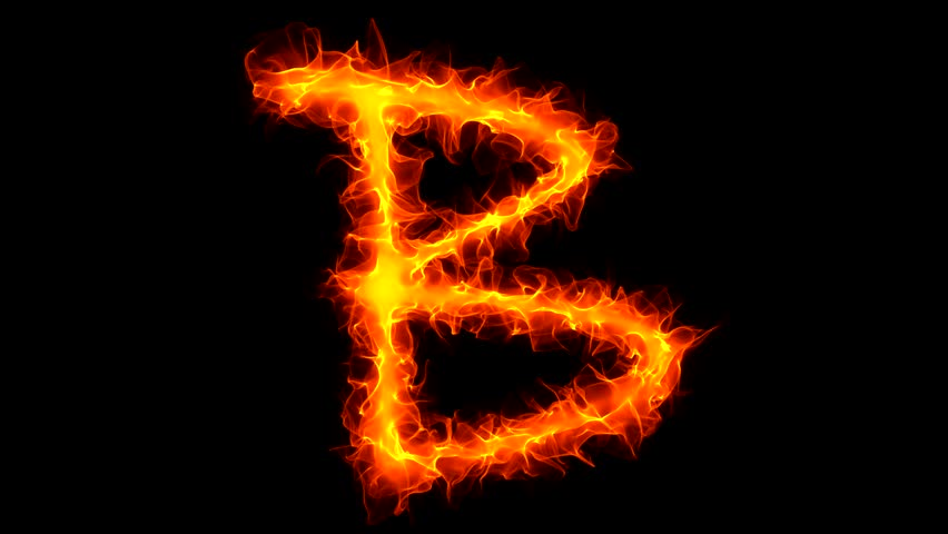 Letter S On Fire Stock Footage Video 1034812 - Shutterstock Letter B Fire