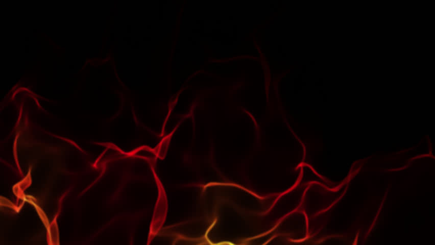 slow motion of a red smoke flame on isolated black