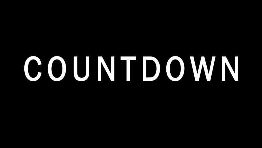 Countdown - HD stock video clip