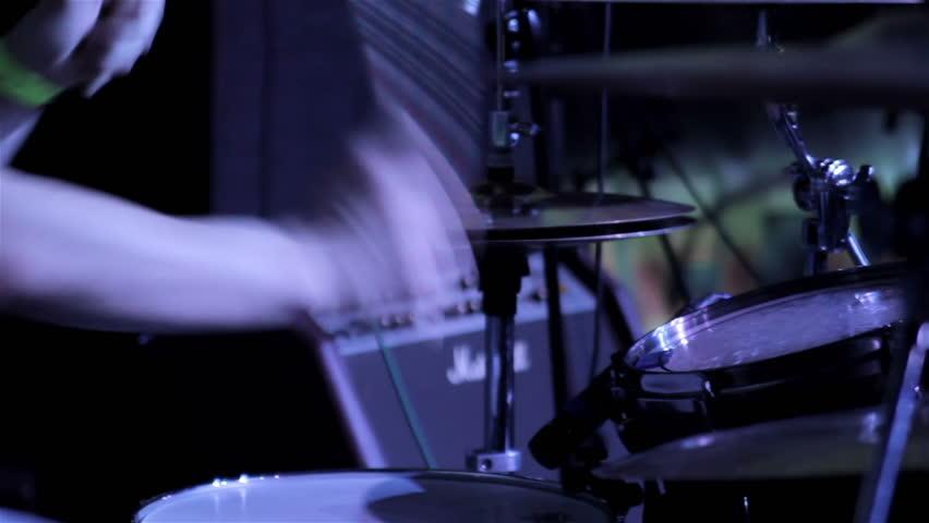 Drummer closeup