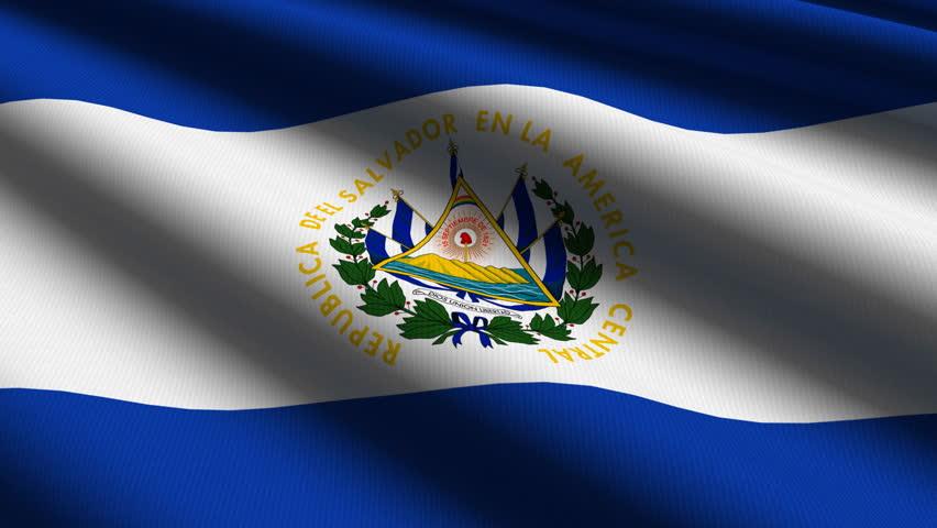 El Salvador Close Up Waving Flag - HD Loop Stock Footage ...