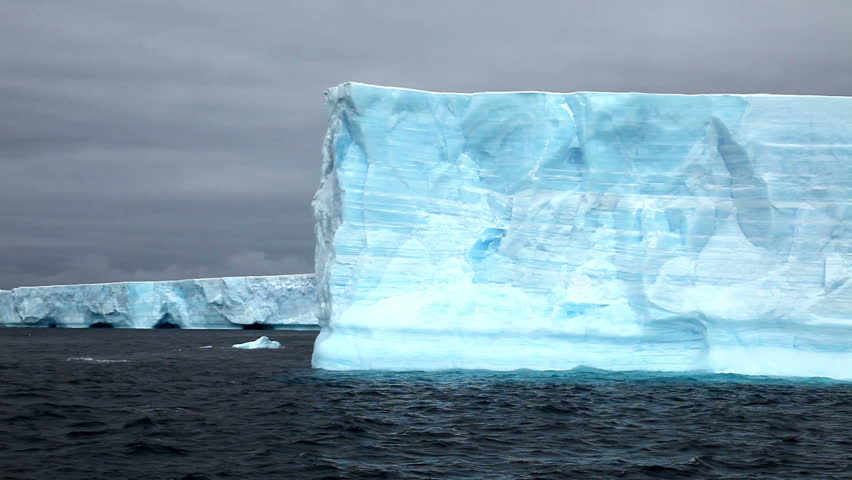 Giant Tabular Iceberg in Antarctica  - HD stock video clip
