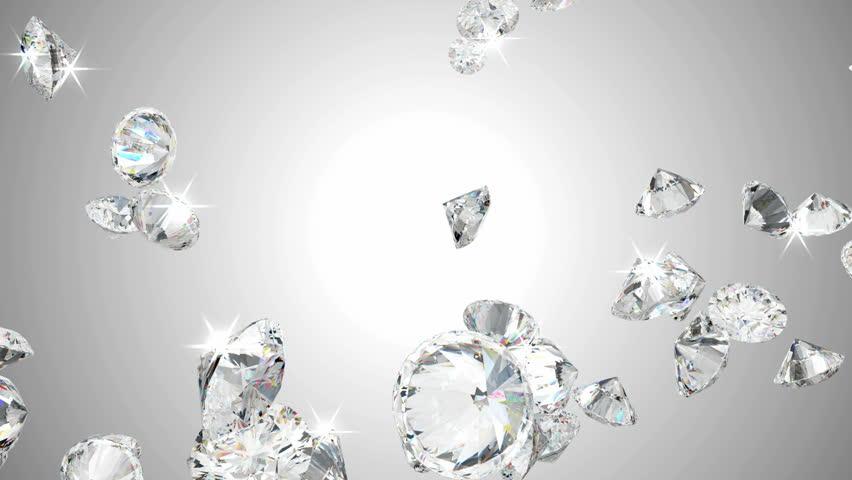 Large diamonds flow in slow motion