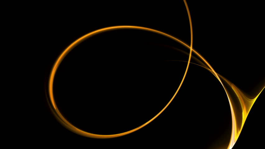 Dynamic Golden Rotational Motion - Golden circular motion as a metaphor of speed and power, wavy flowing energy on black background, animation, 30fps, HD1080, seamless loop
