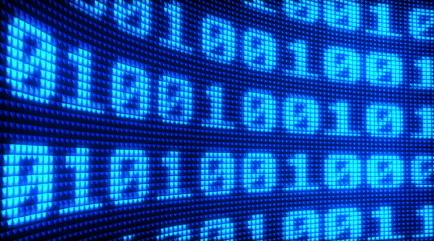 Binary code - SD stock footage clip