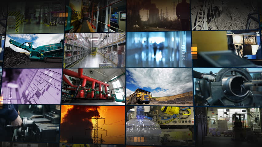Industrial montage - HD stock footage clip