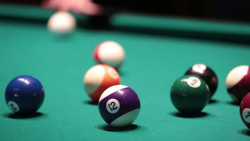 how to hit pool ball
