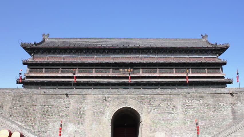 Xi'an city wall, China   - HD stock video clip