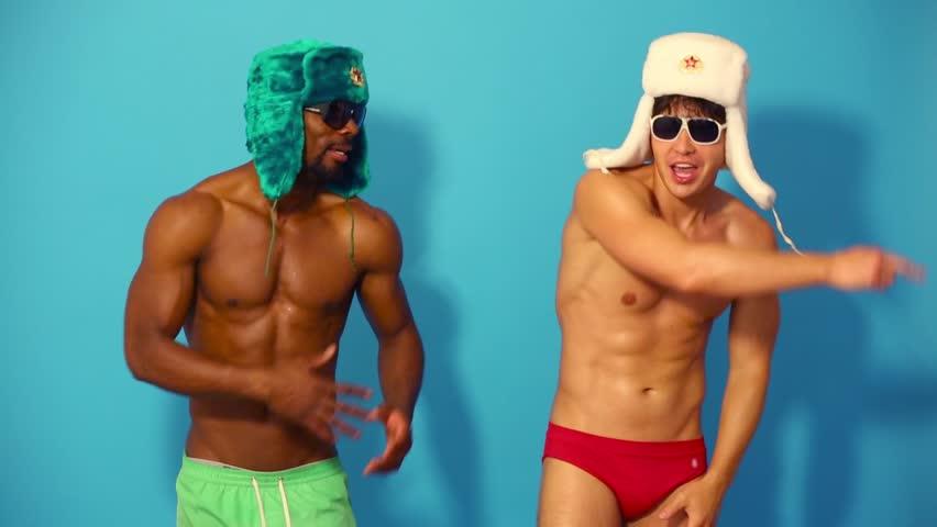 naked half black men