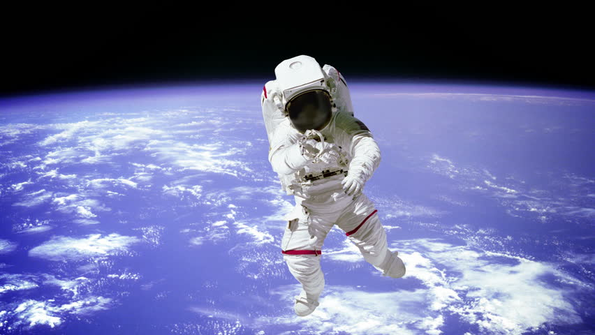 The Astronaut On A Background Of A Planet. Elements Of ...