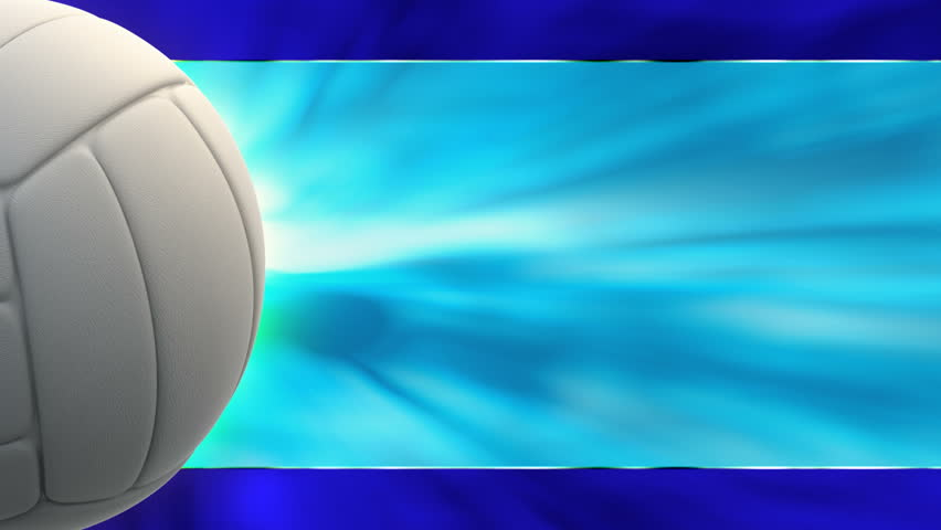 Volleyball Backgrounds: White Volleyball Rotating Seamless Loop. Alpha Channel