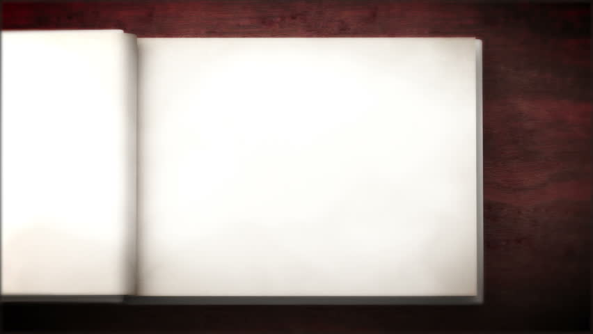 Photo Page: Opening Notepad With Turning Pages, 3d Animation Stock