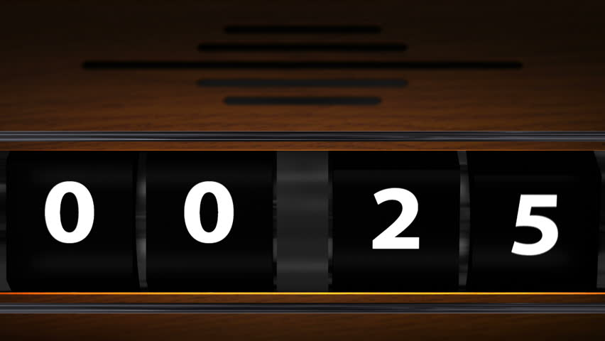 Countdown from 25 to 0 on vintage wooden box | Shutterstock HD Video #993955