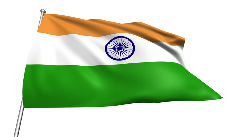Clothe India Flag Hd: [loopable] Flag Of India. Indian Official Flag Gently